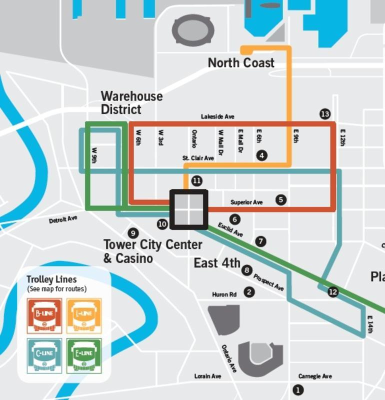 RTA Trolley Map
