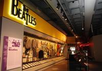 Display cases at The Rock and Roll Hall of Fame & Museum, Photography by dpi digital content, Cleveland, Ohio, Courtesy of the Rock and Roll Hall of Fame and Museum.