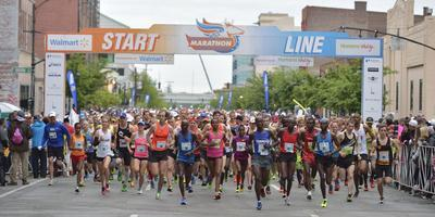 The Marathon/miniMarathon presented by Walmart and Humana