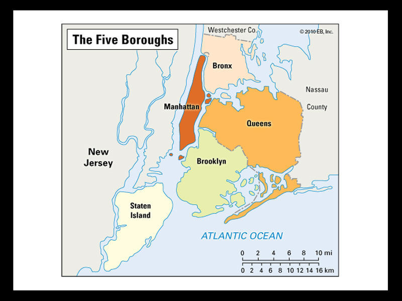 5 Boroughs of NYC