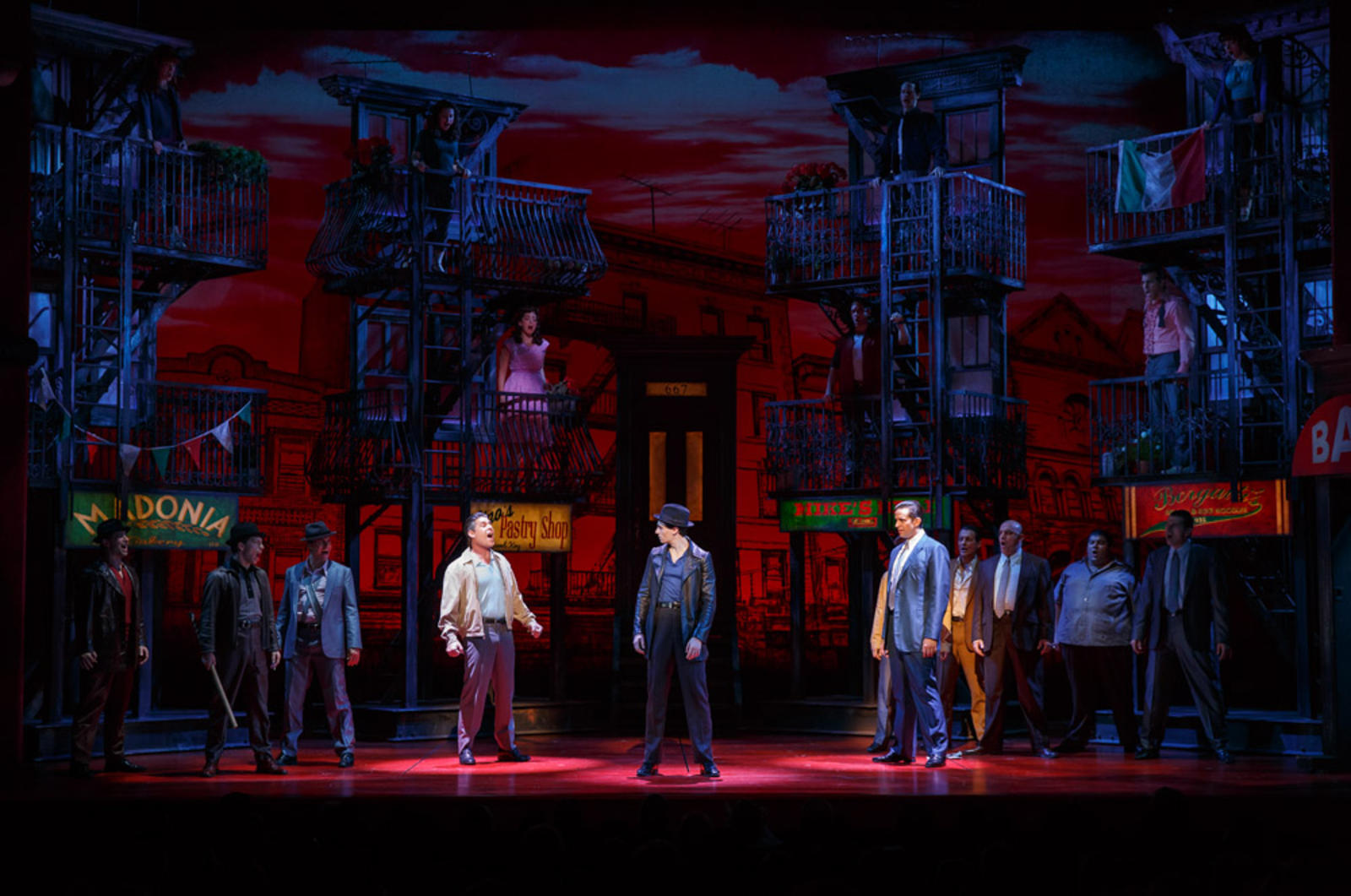 """A Bronx Tale"" by Chazz Palminteri, Alan Menken and Glenn Slater at Longacre Theater"