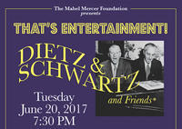 "The Mabel Mercer Foundation presents ""That's Entertainment"" Dietz & Schwartz & Friends           Follow @nyccitiview"