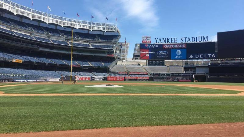 Yankee Stadium Playing Field from the Yankee Dugout
