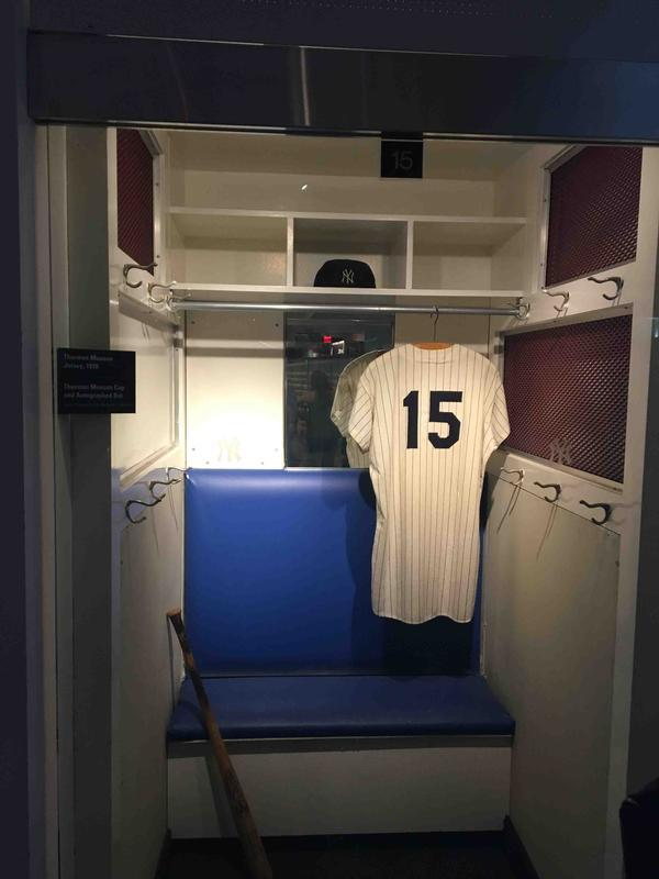 Thurman Munson's Locker in the New York Yankees Museum
