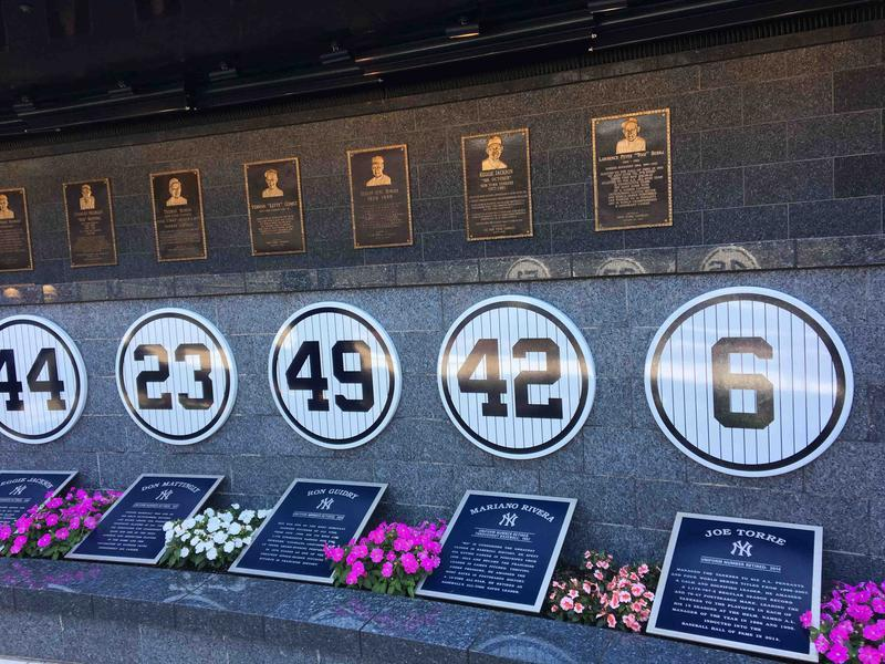 Retired Numbers of Yankee Greats in Monument Park