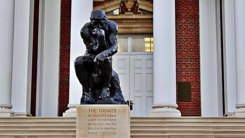 Auguste Rodin The Thinker at University of Louisville