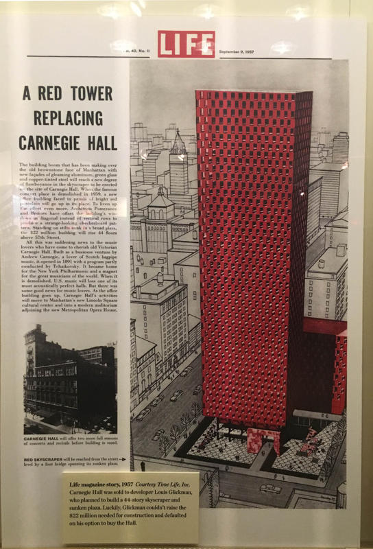 What Could Have Happened to Carnegie Hall