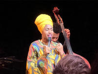 Jazzmeia Horn at Harlem Stage Gatehouse 12/7/2017           Follow @nyccitiview