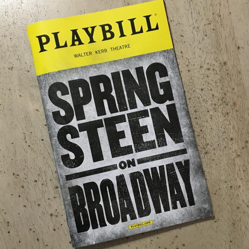 Springsteen on Broadway Playbill