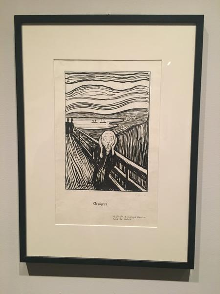 "Edvard Munch ""The Scream"" lithography as a study before th. painting. 1896,"