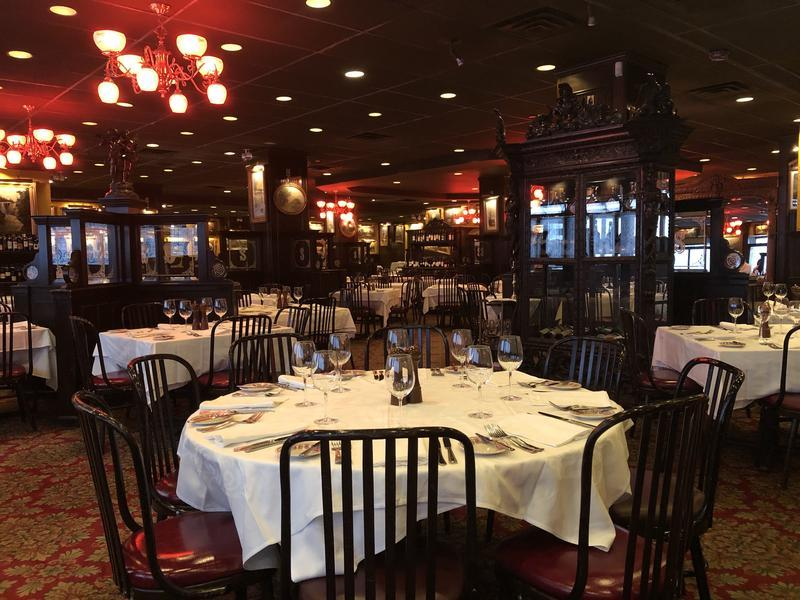 Elegant Dining Room at Sparks Steak House in NYC
