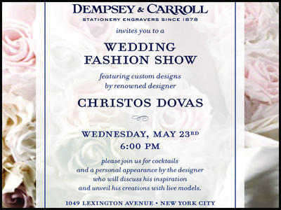 Dempsey & Carroll Wedding Fashion Show with Designs by Christos Dovas