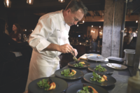 Chef John Doherty Putting the Finishing Touches on Dishes Served at Black Barn's Chef's Table, Photo: Michael Persico