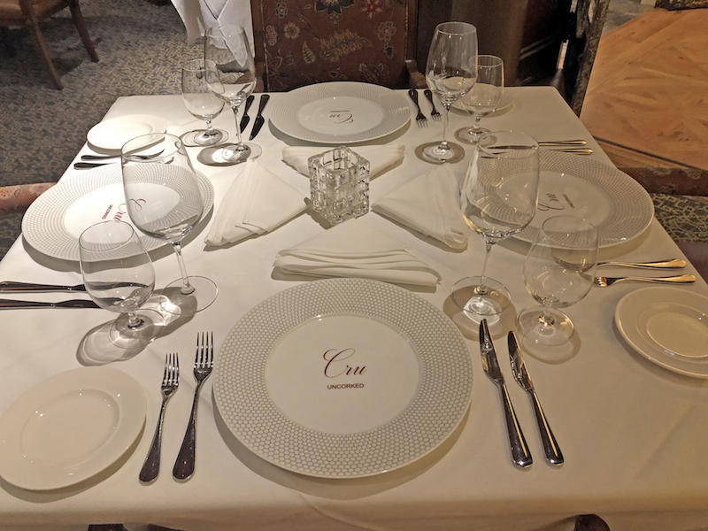 Cru Uncorked Table Setting