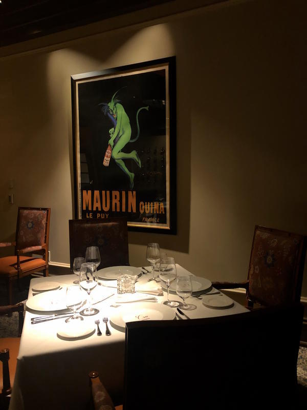 Reprint of the Maurin Quina, a famous French wine poster by the celebrated artist Leonetto Cappiello, circa 1906.