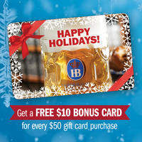 FREE $10 Bonus Card With $50 Gift Card Purchase