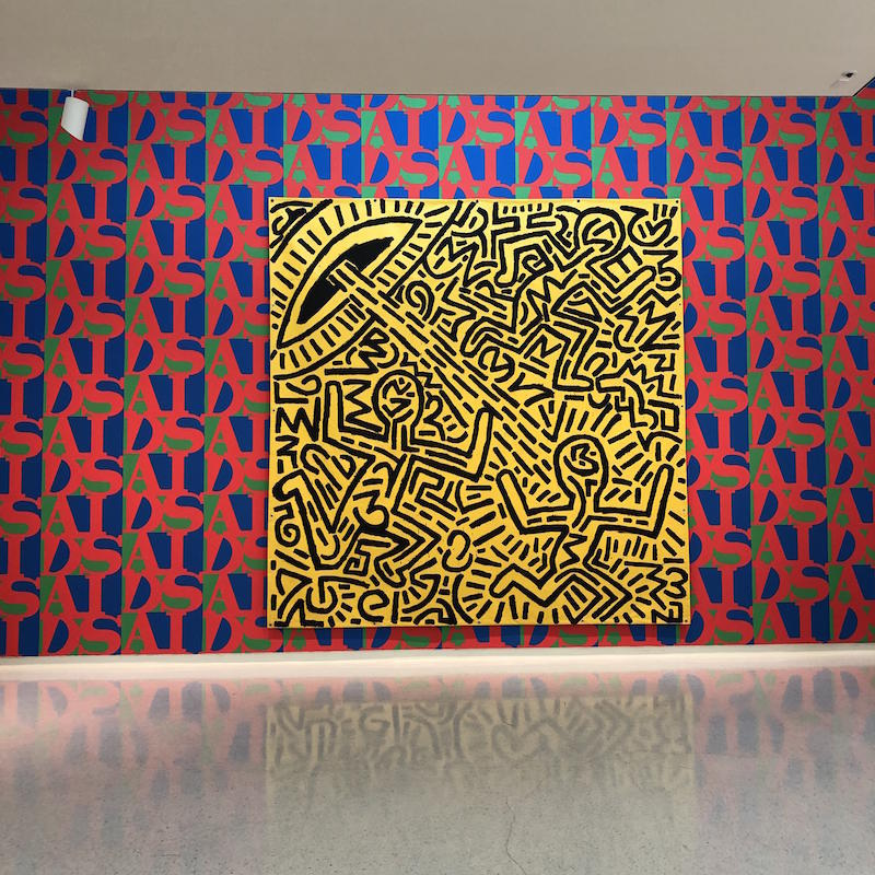 Keith Haring, Untitled/General Idea, AIDS wallpaper