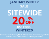 January Winter Sale - Sitewide 20% OFF